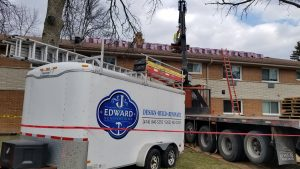 image of work trailer from J. Edward Renovations